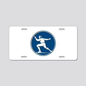 Fencing Side Circle Icon Aluminum License Plate